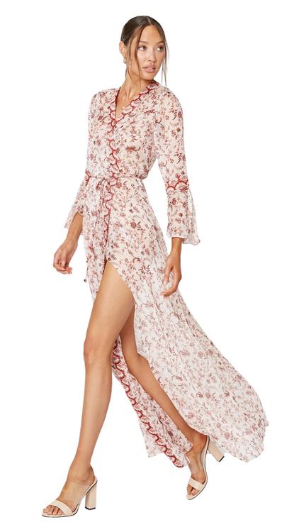 Winona floral wrap dress