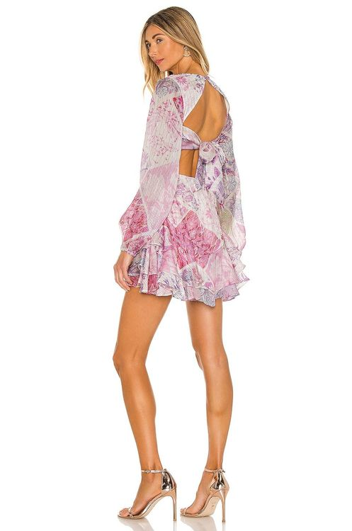 Purple floral mini dress