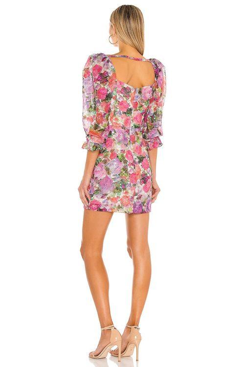 patbo floral puff sleeve dress