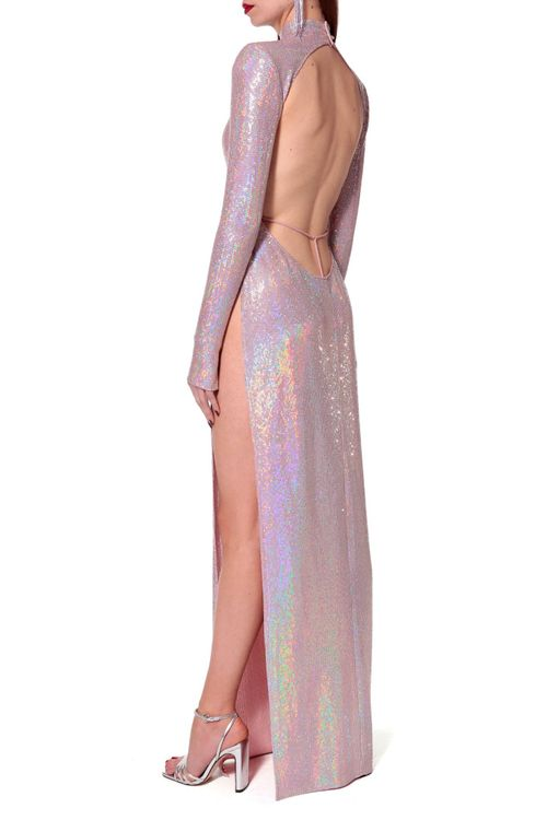 aggie pink holographic dress